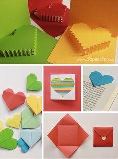 manualidades tarjetas de san valentín en papel valentine
