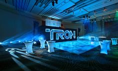 Photo Gallery | Tron: Legacy Party | ELS - Lighting Equipment Rentals and Sales | Event Production Services | Architectural Lighting Installations | Film/TV Lighting