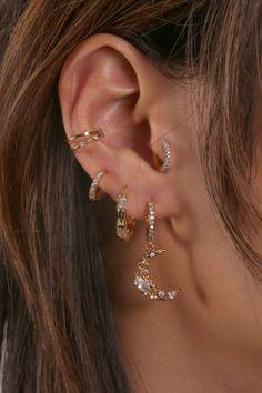 Rue Gembon Mini Hoop Earrings, Moon Earrings, Cuff Earrings, Heart Earrings, Butterfly Earrings, Statement Earrings, Ear Jewelry, Cute Jewelry, Jewlery