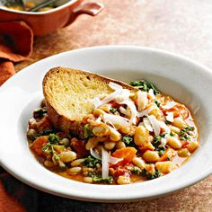 Slow Cooker Ribollita. Love that this calls for dried beans - much healthier than canned!