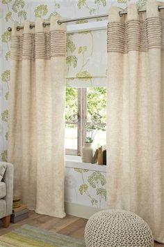 Natural Ruffle Eyelet Curtains from Next