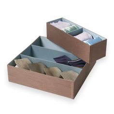 The Container Store > Silk Drawer Organizers - for socks and intimates