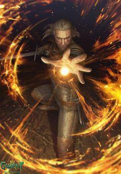 Geralt: Igni by akreon.deviantart.com on @DeviantArt
