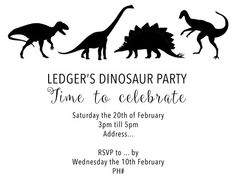 DINOSAUR PARTY INVITE DOWNLOAD - Free!