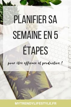 Plan your week in 5 steps My Trendy Lifestyle Organization Bullet Journal, Life Organization, Organizing, Planner Organisation, Bullet Journal Week, Miracle Morning, Burn Out, Coaching, Filofax