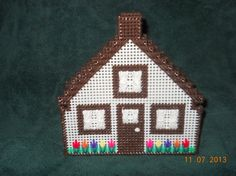 House Napkin Holder 2 colors  in Plastic canvas by SpyderCrafts, $8.00