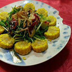 半夏生っぽく(*^^*) - 16件のもぐもぐ - 蛸と京水菜のサラダ ホースラデイッシュのドレッシングで by iumico