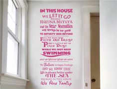 Check out our new stunning Disney quotes wall sticker. In this house we are family.⠀ - wide x high - Choice of 21 colours - FREE spreader - Buy 2 get FREE mix and match ! Wall Stickers Family, Wall Stickers Quotes, Childrens Wall Stickers, Wall Art Quotes, Family Wall Quotes, In This House We, We Are Family, House Wall, Nursery Wall Decor