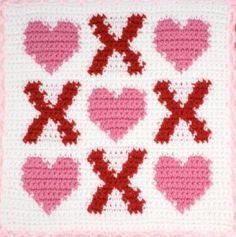 Hearts & Kisses Square – Free Crochet Pattern