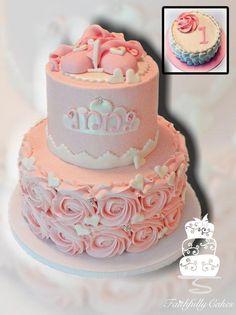 Rosettes+Ballet+1st+Birthday+-+Cake+by+FaithfullyCakes
