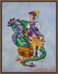 Margot, The Treasure Keeper cross stitch pattern by Cross Stitching Art www.crossstitchingart.com
