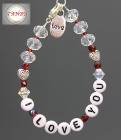 "Armband ""I love you"" http://www.tanbi-shops.de/online-shop/wedding/i-love-you/#cc-m-product-11231377027"