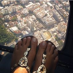 Leblon From Above With Some Little Feet In Brazil Style Sandals