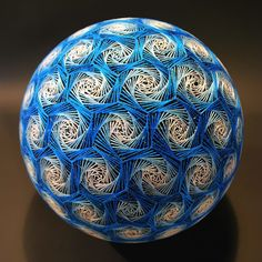Embroidered Temari Balls made by 88 year old grandmother