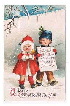 Antiques from the web 1913 A Jolly Christmas to You Postcard Ellen Clapsaddle
