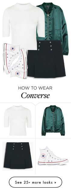 """jade insp"" by littlemixmakeup on Polyvore featuring MANGO, Topshop and Converse"