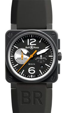 Buy Bell & Ross BR Chronograph Carbon Watches, authentic at discount prices. All current Bell & Ross styles available. Bell Ross, Watch Companies, Luxury Watches For Men, Black Rubber, Omega Watch, Jewels, Black And White, Accessories, Men's Watches