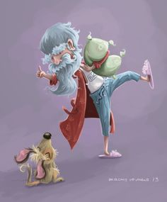 El loco de la almohada de los sueños (El vejete y su perrete. Macus Romero Illustration)  Consiste en mi teoría de que uno sueña para que otro lo cumpla. Este viejito era felíz porque creía que lo que soñaba le pasaba a otro gracias a que el lo soñaba, lo que no se es ocmo darle un final feliz. Me puedo imaginar que alguien lo ayuda o el viejito le pasa algo demasiado bien y de lejos lo observa otro loco de almohada de los sueños XD