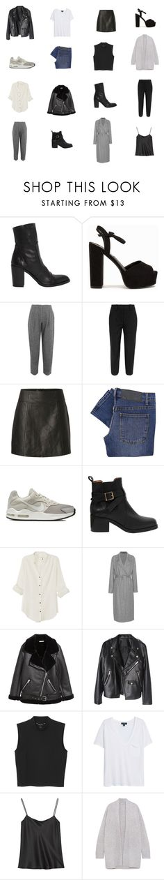 """""""*"""" by iampeaches ❤ liked on Polyvore featuring Strategia, Nly Shoes, Acne Studios, Noted*, Cheap Monday, NIKE, Carvela Kurt Geiger, rag & bone, The Row and Monki"""