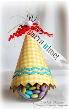 Party hats with a treat inside! Thoughts of a Cardmaking Scrapbooker