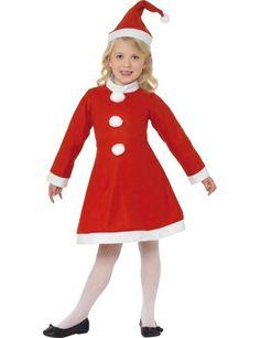 Kind Santa Girl Kostuum