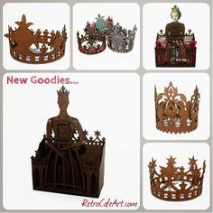 Regal Santos Crowns and more from Retro Café Art Gallery. www.RetroCafeArt.com