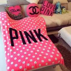 Pink Blanket Fleece, Throw Blanket On Bed, Beach and Airline