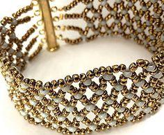 Náramky - Náramok - 4600638_ Seed Bead Jewelry, Seed Beads, Beaded Jewelry, Beaded Bracelets, Jewellery, Tutorials, Jewelery, Pearl Jewelry, Jewlery