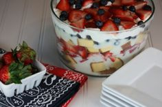 White Chocolate Berry Trifle- Perfect for summer!