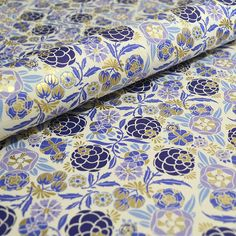 Rossi Fine Italian Paper *New* 2016 Liberty Flowers in Blue