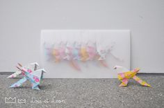Great Origami Garland with japanese papers! Handmade by Lou et Leon! Origami Garland, Japanese Paper, Kids, Handmade, Young Children, Boys, Hand Made, Children, Boy Babies