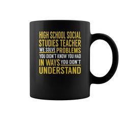 High School Social Studies Teacher Solve Problems Job Title Mugs