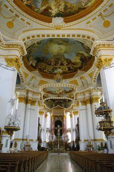 Ulm, Kloster Wiblingen, Klosterkirche St. Martin, erbaut bis 1783
