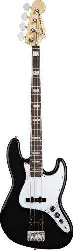 Fender '70s Jazz Electric Bass Guitar, Rosewood Fretboard, 3-Ply B/W/B Pickguard - Black * Want additional info? Click on the image.