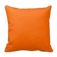 Deep Orange Throw Pillow