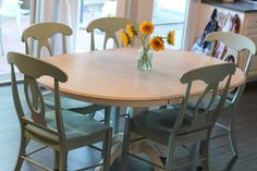 My Greenbrae Cottage: Dining Table refinish with Annie Sloan