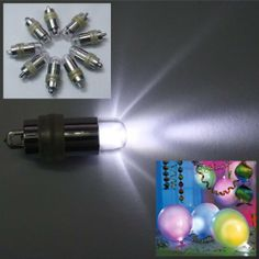 Fuloon 2 In 1 Blinking Non-blinking 24PCS Waterproof Decorative LED Speccial Effects Light For Paper Lantern Balloon Floral Wedding Party Christmas NEW by Fuloon. $24.99. Use:  - To use in a balloon, tie a ribbon through the loop at the end of the light.  Activate the light and insert into balloon. Fill the balloon with helium and tie  a knot.  - Turn balloon upright so balloon light slides back into the neck of the  balloon. Slide rubber o-ring anchor over neck of balloon...