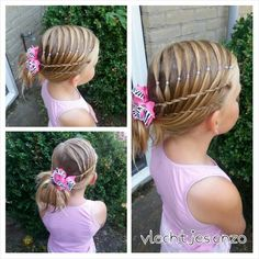 such a cute hairstyle for little girls