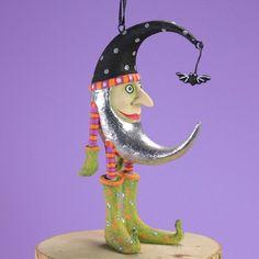 Halloween Home Decor Mini Bat Moon Ornament Handmade Party Display #HalloweenHomeDecor