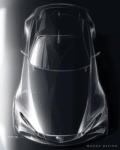 Mazda Vision Coupe Concept official sketch by Ryoma Makino @makikichi7 #cardesign #car #design #carsketch #sketch #mazda #conceptcar