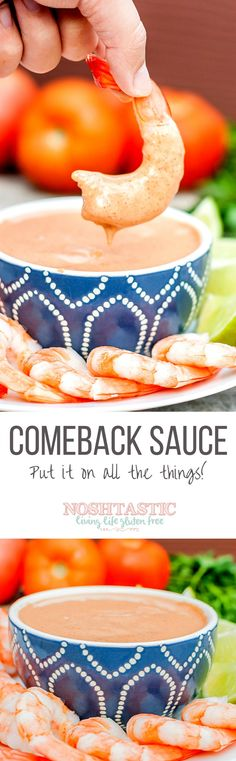 Comeback Sauce, a Mississippi original in the same family as Fry Sauce, Thousand Island and Cocktail Sauce, it's SO good you'll be back for more!!
