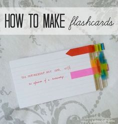 Great blog with creative ideas for using flashcards to study.
