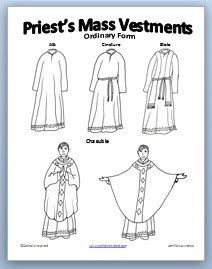 Learning About Priest Vestments {Free Printable e-book and Activity} ~ Catholic Inspired