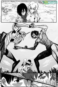 The Crossover Manga/Anime, Evangelion 01 VS Titan eren Neon Genesis Evangelion, Berserk, Manga Anime, Anime Art, Rei Ayanami, Otaku, Anime Crossover, Comic Games, Animes Wallpapers