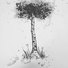 Really into birch trees lately.   You can buy Fairyish art at http://www.redbubble.com/people/feelingfairyish #art #cute #animation #cartoon #illustration #characterdesign #design #visdev #visualdevelopment #sketchbook #artistsoninstagram #conceptart