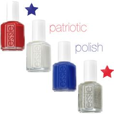 4th of July: Essie nail polish