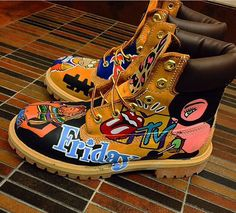 Custom Timberlands Princess#128081; trxperella #128271; ☽♥☾