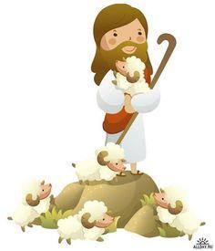 Cartoon Images, Cartoon Drawings, Jesus Cartoon, Resurrection Day, Bible Images, Bible Crafts For Kids, Bible Illustrations, Christian Crafts, The Good Shepherd