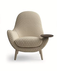 Upholstered fabric armchair with armrests MAD KING Mad Collection By Poliform design Marcel Wanders Lounge Chair, Sofa Chair, Upholstered Chairs, Unique Furniture, Furniture Design, Design Industrial, Fabric Armchairs, Futuristic Furniture, Futuristic Interior