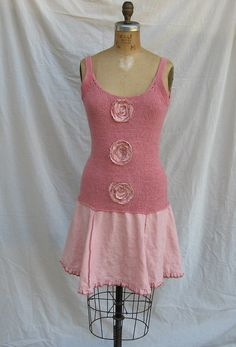 recycled+reconstructed+upcycled+sweater+and+linen+by+linenclothing,+$110.00